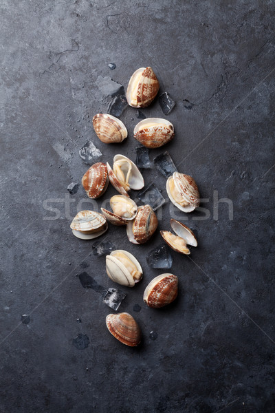 свежие морепродуктов каменные таблице Top мнение Сток-фото © karandaev