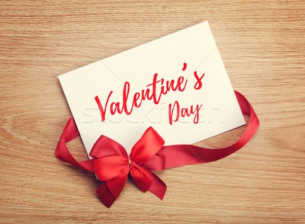 Día de san valentín tarjeta de regalo arco amor Foto stock © karandaev