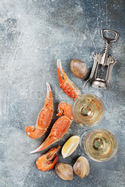 Seafood and wine Stock photo © karandaev
