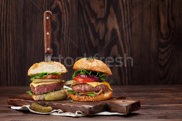 Smakelijk gegrild koken rundvlees tomaat Stockfoto © karandaev