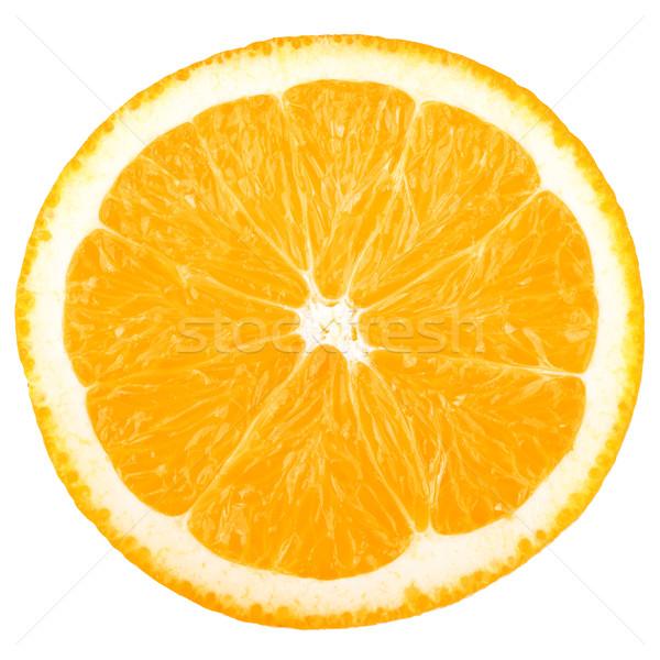 Makró étel gyűjtemény narancsszelet izolált fehér Stock fotó © karandaev