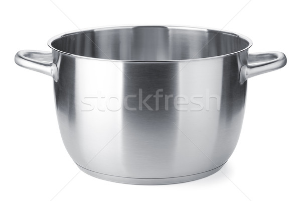 Stainless steel pot without cover Stock photo © karandaev