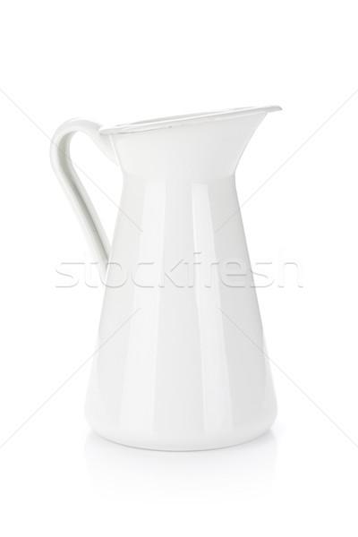 Bianco metal latte isolato acqua sfondo Foto d'archivio © karandaev