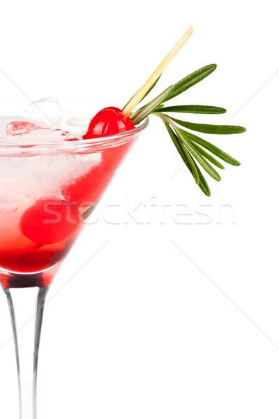 Christmas martiny cocktail Stock photo © karandaev