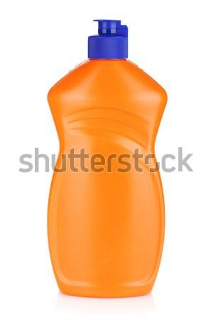 Stock fotó: Műanyag · üvegek · takarítószerek · izolált · fehér · ház