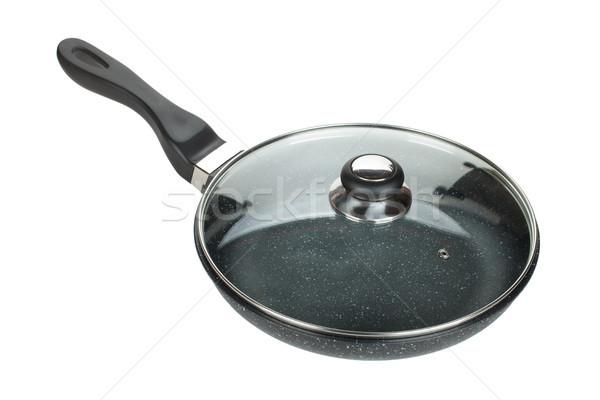 Frying pan with glass cover Stock photo © karandaev