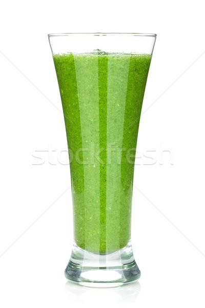 Yeşil sebze iki yüzlü yalıtılmış beyaz gıda Stok fotoğraf © karandaev