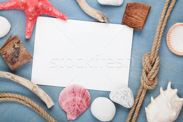 Stok fotoğraf: Boş · kağıt · kart · gemi · halat · deniz
