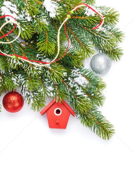 Navidad colorido decoración nieve aislado Foto stock © karandaev