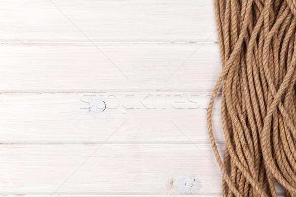 морской веревку копия пространства текстуры морем Сток-фото © karandaev