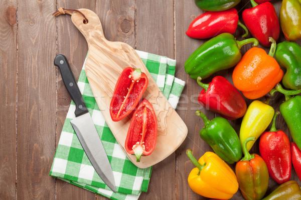 Fresh colorful bell pepper cooking Stock photo © karandaev