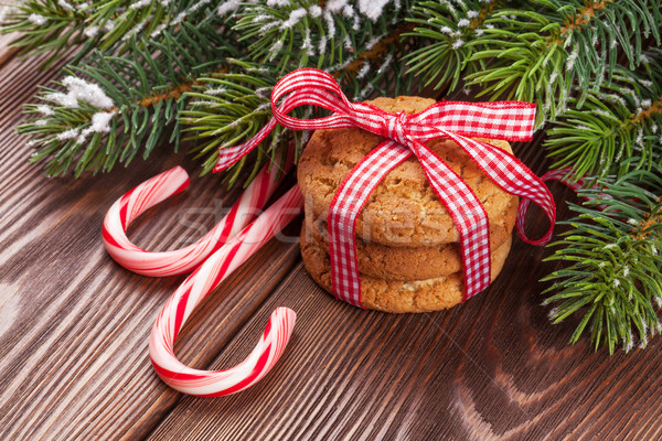 Noël pain d'épice cookies bonbons canne Photo stock © karandaev