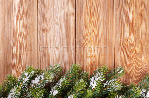 Noël bois neige vue espace de copie Photo stock © karandaev