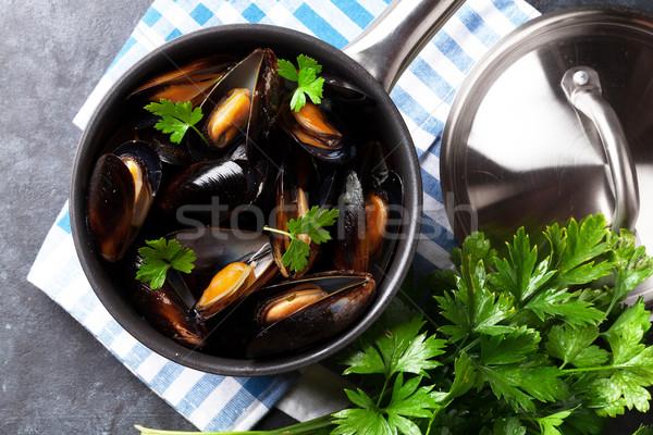 Mussels Stock photo © karandaev