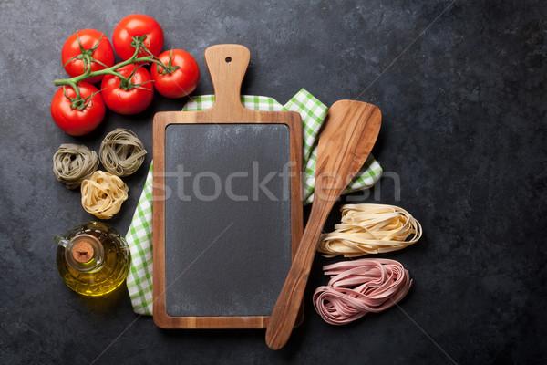 приготовления Ингредиенты каменные таблице Top Сток-фото © karandaev
