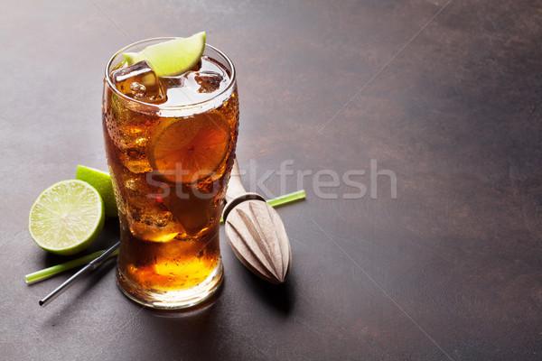 Cuba libre cocktail glass Stock photo © karandaev