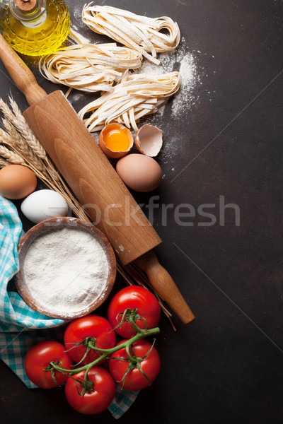 Pasta cooking ingredients Stock photo © karandaev