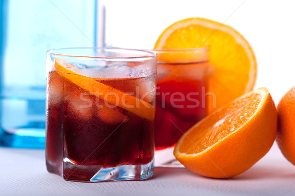 Americano and Negroni cocktail Stock photo © karandaev