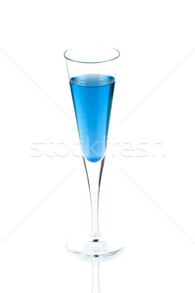 Blue Champagne alcohol cocktail Stock photo © karandaev