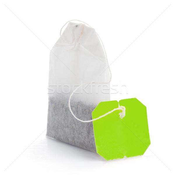 Teabag with green label Stock photo © karandaev
