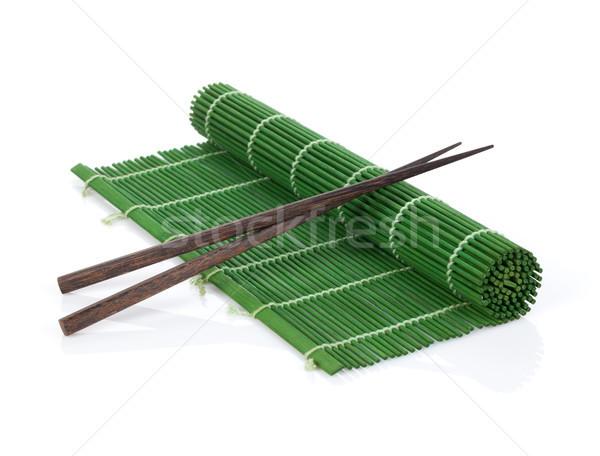 Bambu isolado branco comida cozinha Foto stock © karandaev