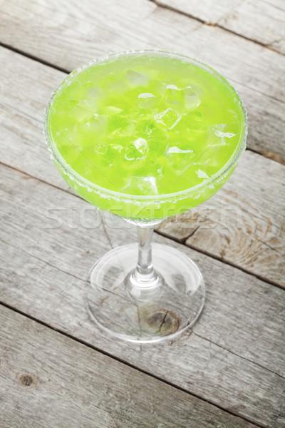 Сток-фото: классический · коктейль · деревянный · стол · стекла