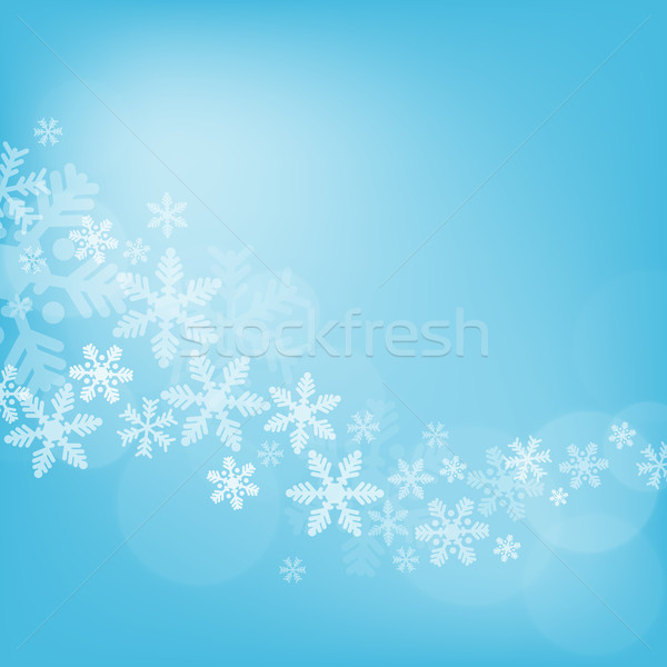 аннотация Рождества синий снега искусства Сток-фото © karandaev
