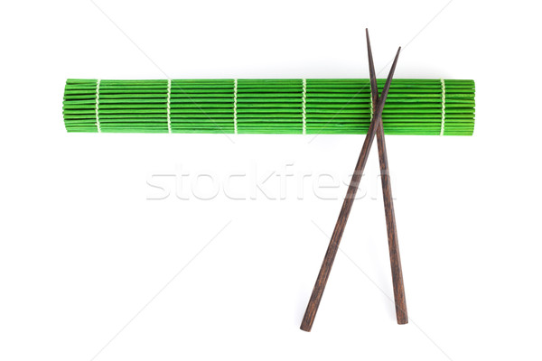 Palillos bambú aislado blanco alimentos cocina Foto stock © karandaev