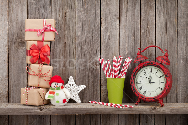 Сток-фото: Рождества · будильник · стены