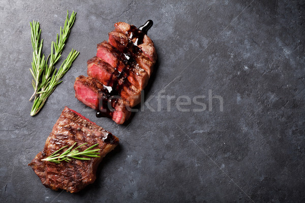Grilled sliced beef steak Stock photo © karandaev