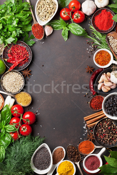 Various spices and herbs Stock photo © karandaev