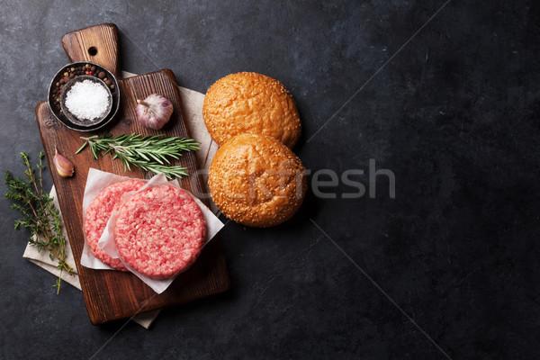 Smakelijk gegrild koken top Stockfoto © karandaev