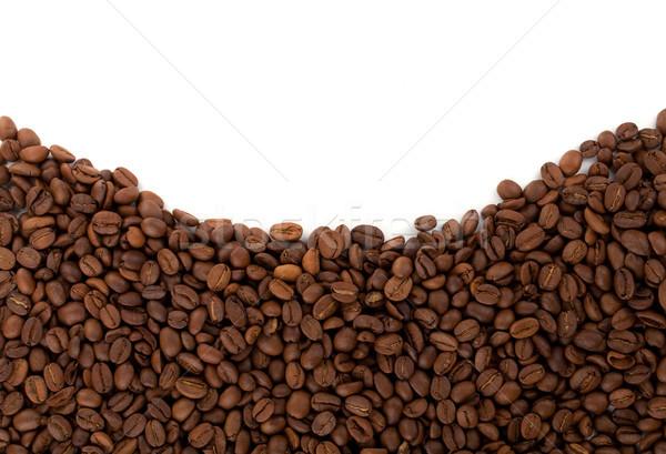 Grains de café blanche nature espace énergie couleur Photo stock © karandaev