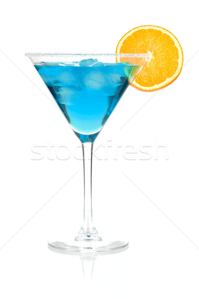 Cocktail collectie Blauw martini orange slice geïsoleerd Stockfoto © karandaev