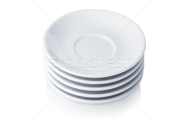Branco isolado cozinha sombra objetos brilhante Foto stock © karandaev