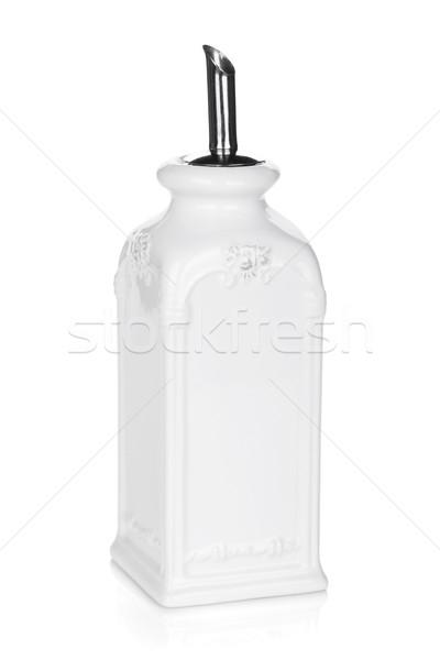 Olaj ecet üveg izolált fehér étel Stock fotó © karandaev