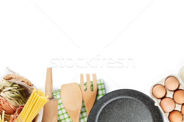 Cooking utensils and ingredients Stock photo © karandaev