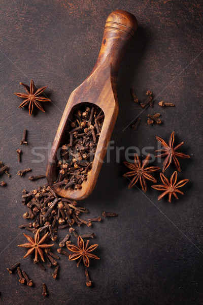 Bor hozzávalók fűszer ánizs kardámom kő Stock fotó © karandaev