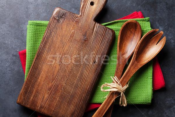 Old vintage kitchen utensils Stock photo © karandaev