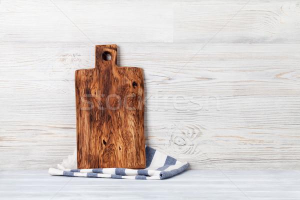 Kitchen utensils. Cutting board Stock photo © karandaev