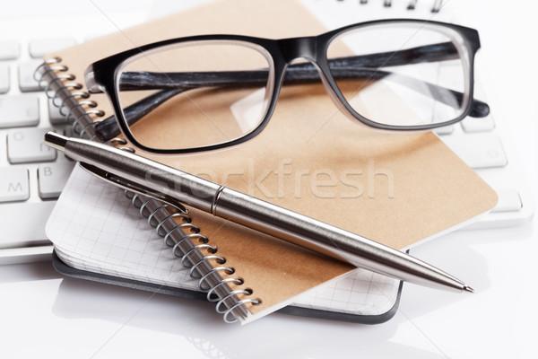 コンピュータ 事務用品 眼鏡 紙 作業 ペン ストックフォト © karandaev