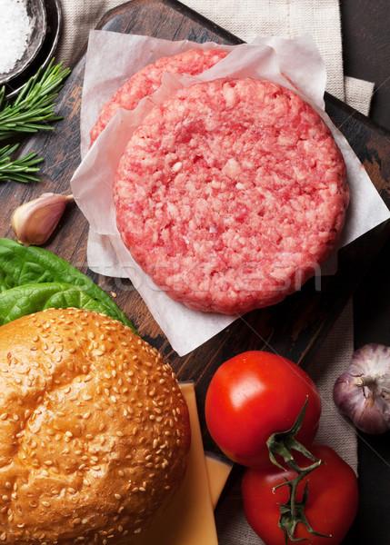Сток-фото: вкусный · гриль · приготовления · говядины · томатный