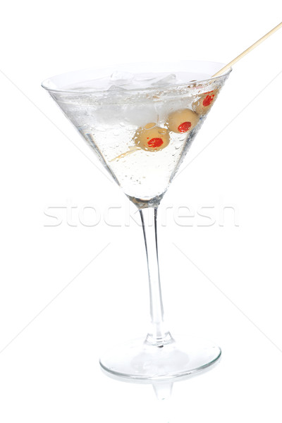 Cocktail collection - Classic martini with olives Stock photo © karandaev