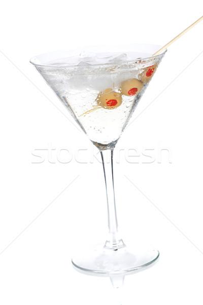 Coquetel coleção clássico martini azeitonas isolado Foto stock © karandaev