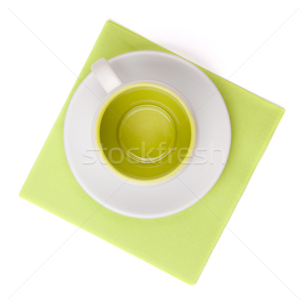 Empty cup on placemat Stock photo © karandaev