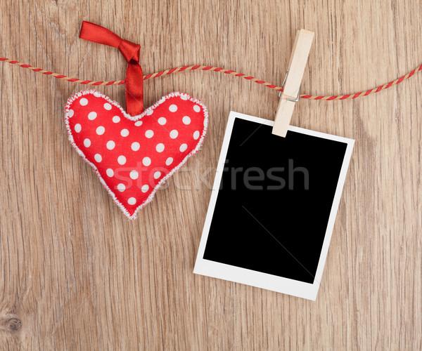 Immediato foto rosso cuore impiccagione Foto d'archivio © karandaev