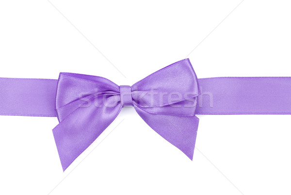 Purple ribbon with bow Stock photo © karandaev