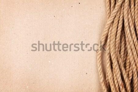 Kahverengi karton kâğıt deniz halat bo Stok fotoğraf © karandaev