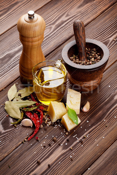 Various spices and condiments Stock photo © karandaev