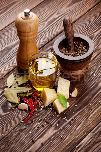 Stok fotoğraf: Baharatlar · ahşap · gıda · ahşap